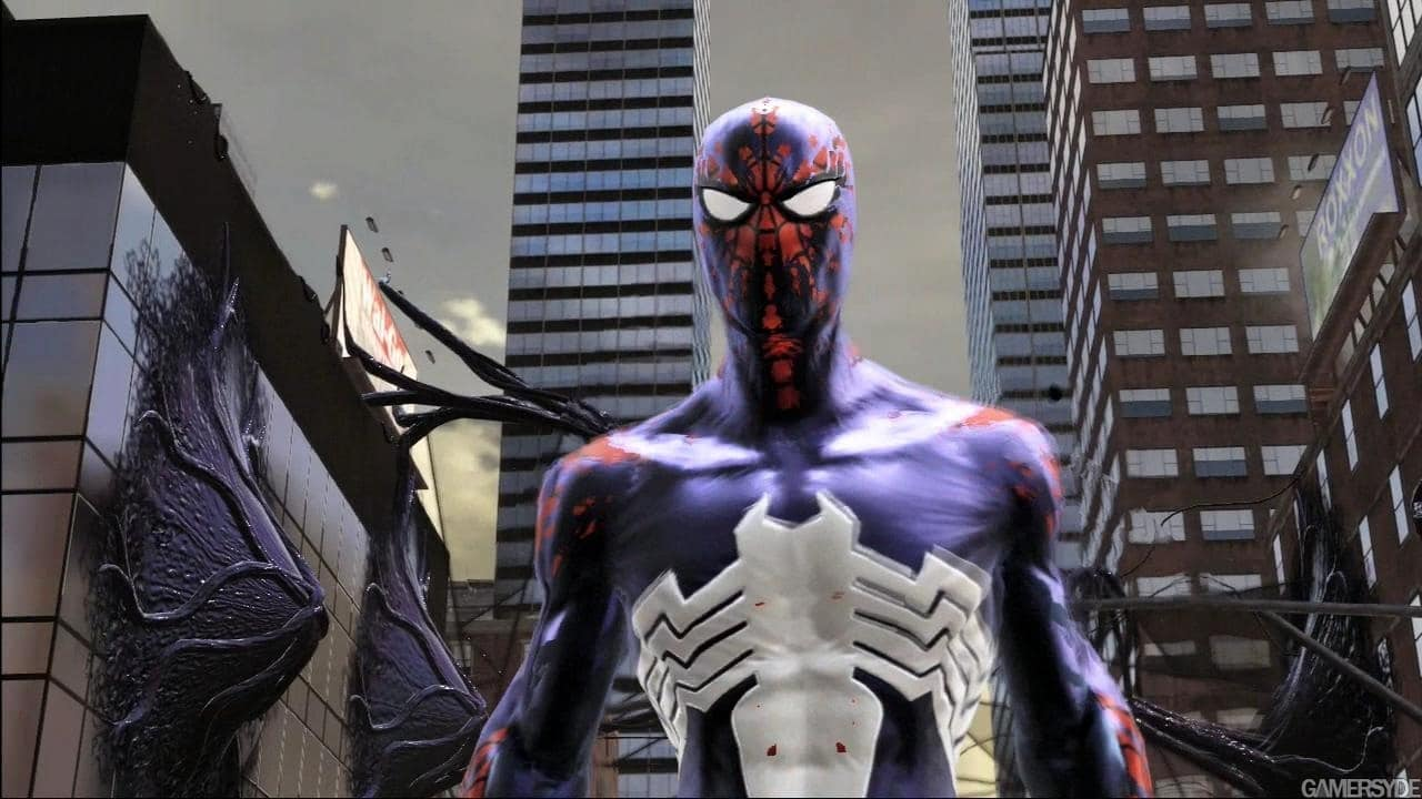 spider man web of shadows how to change costumes