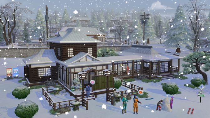 The Sims 4 Snowy Escape free